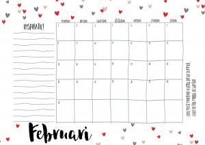 Free Printable kalender voor 2016 - Hip & Hot - blogazine