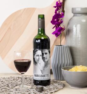 greetz wijn met foto etiket