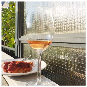 wijn en spareribs