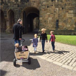 lopen in het kasteel