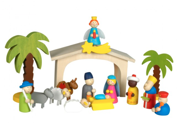 houten-kerststal