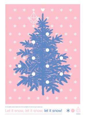 kerstboom-poster-let-it-snow-zilverblauw