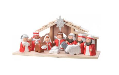 kerststal-rood-wit
