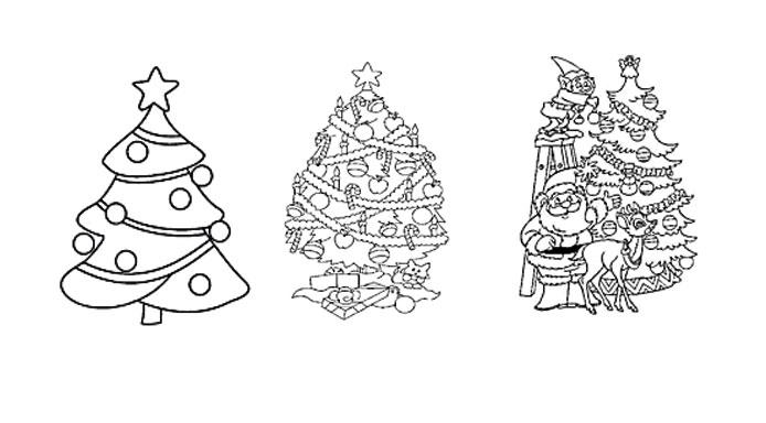 kleurplaten-kerstbomen
