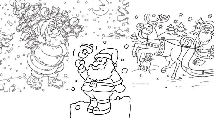 kleurplaten-kerstman