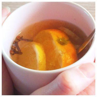 herfstthee met sinaasappel