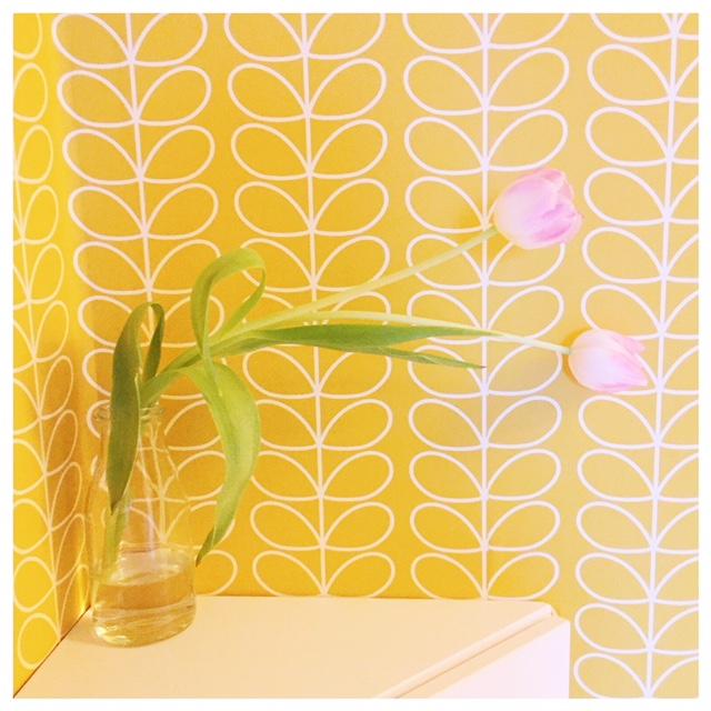tulpen geel behang