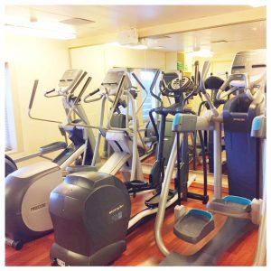 Cardio fitness apparaten in de sportschool