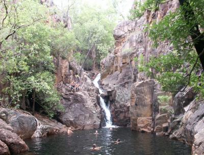waterval zwemmen