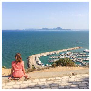 Op vakantie naar Tunesië uitzicht haven sidi bou said