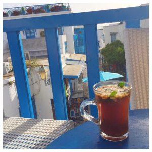 Cafe des Nattes in Sidi Bou Saïd pijnboompitten thee