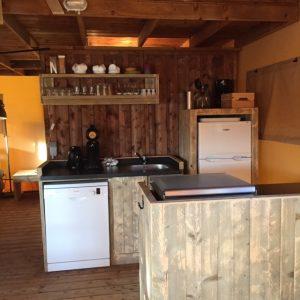 lodgetent keuken