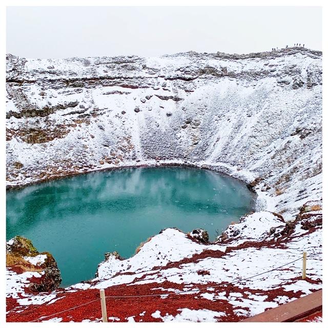 kerid krater sneeuw