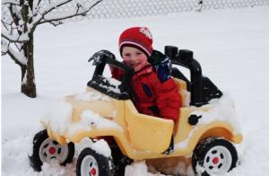 wintersport kinderen auto