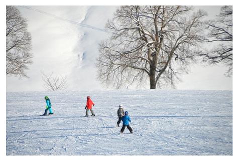 wintersport gebieden met kinderen