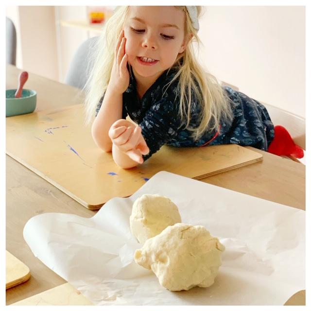 recept voor zoutdeeg of brooddeeg gemaakt