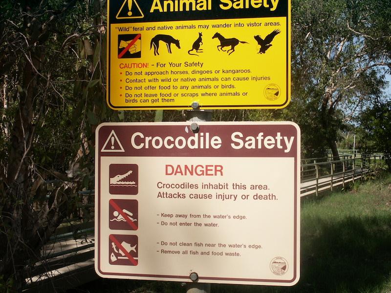 Pas op krokodillen