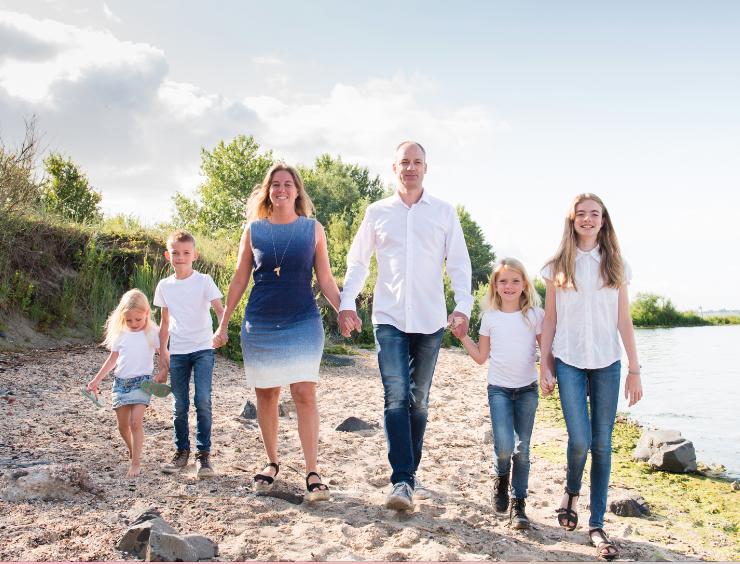 kk fotografie gezin op een rij