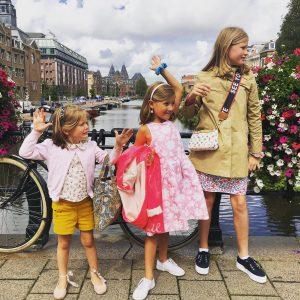 route door amsterdam zuid met kinderen