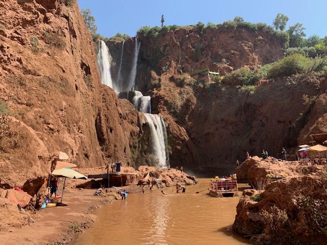 ouzoud falls zwemmen