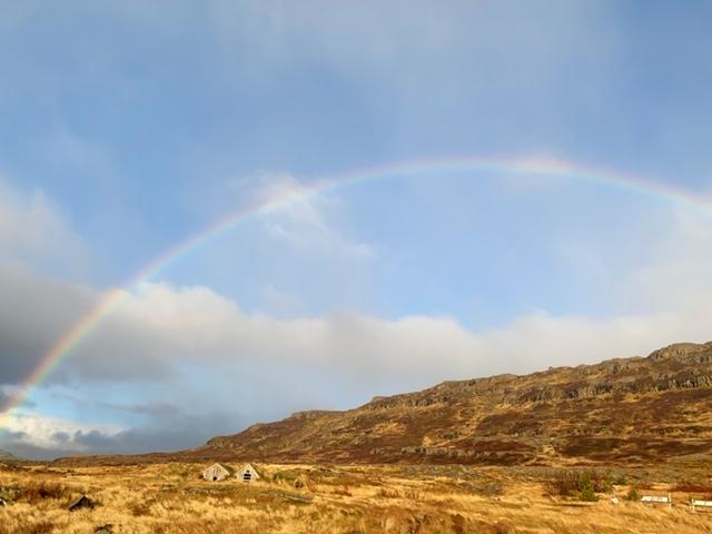 IJsland Gvendarlaug regenboog