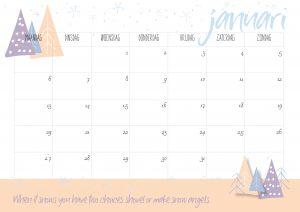 free printable kalender 2020