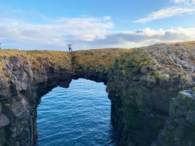 snaefellsnes stone bridge arnastapi