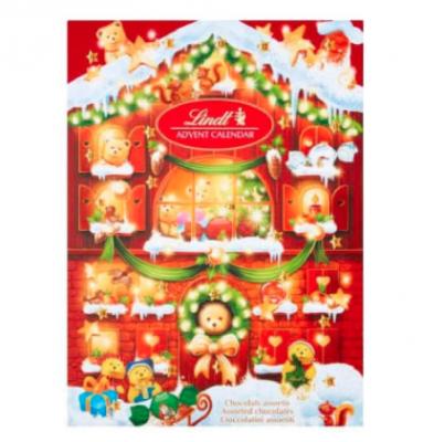 Lindt adventskalender met chocola