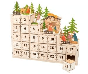 houten adventskalender kastje small