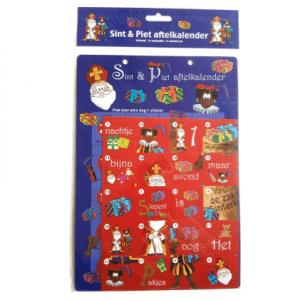 kant en klare sinterklaas aftelkalender met stickers