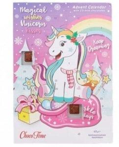unicorn adventskalender met chocola