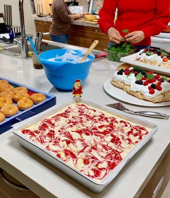 feestelijk kerst dessert cheesecake