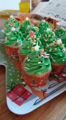 kerstbomen cupcakes