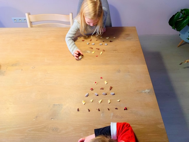 kerstmis piramide dobbelspel