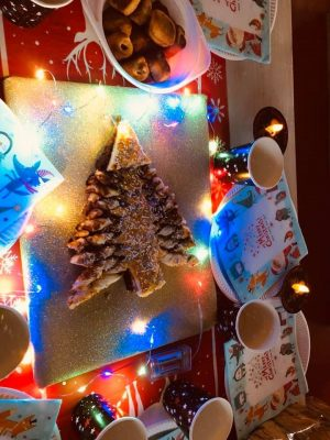 nutella kerstboom van bladerdeeg