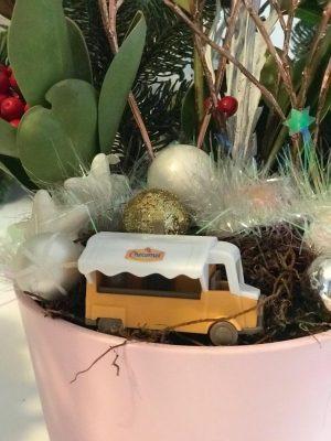 albert heijn winterdorp huisjes kerststukje