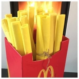 surprise mc donalds frietjes