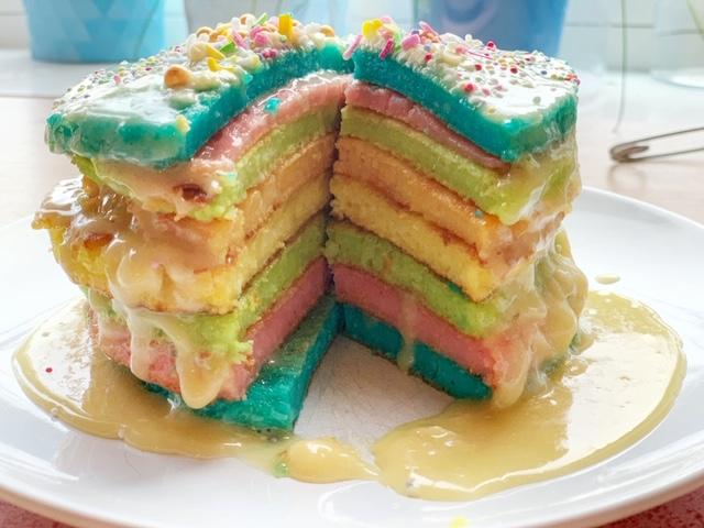 regenboog pannenkoektaart