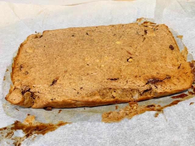 pindakaas met havermout banaan en chocola uit de oven