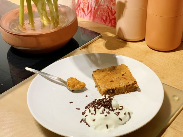 pindakaas met havermout en chocolade skyr
