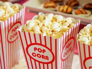 traktatie met popcorn