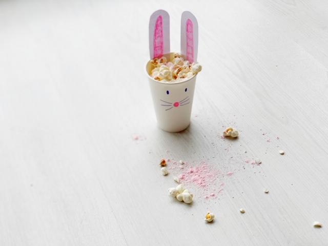 traktatie konijn popcorn