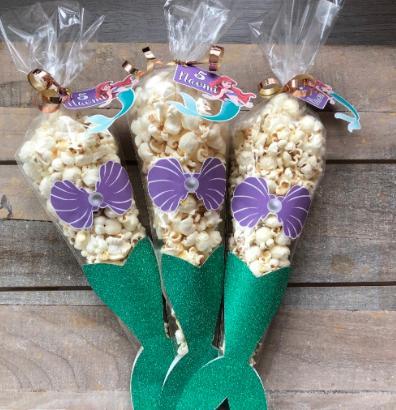 traktatie met popcorn zeemeermin