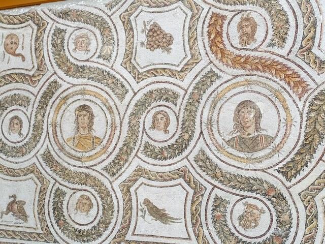 Bardo Museum mozaieken gezichten