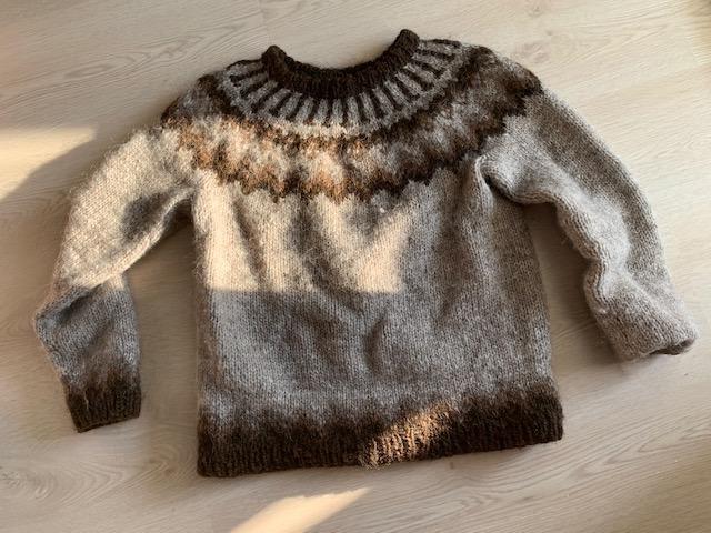 Een authentieke ijslandse trui