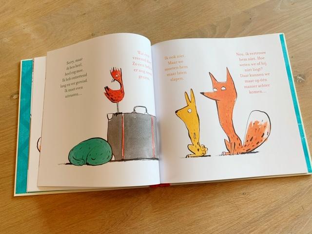 Review prentenboek De koffer midden pagina