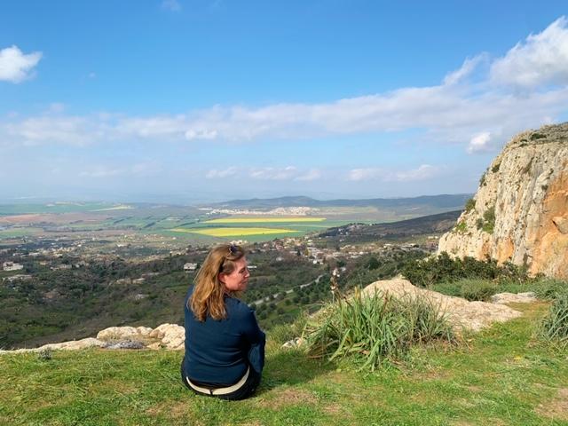 Uitzicht vanaf de berg in Djebba nationaal park in Noord-Tunesië