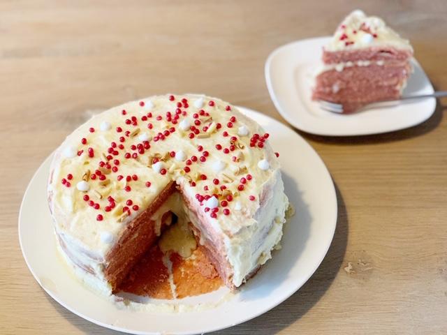 roze taart valentijnsdag
