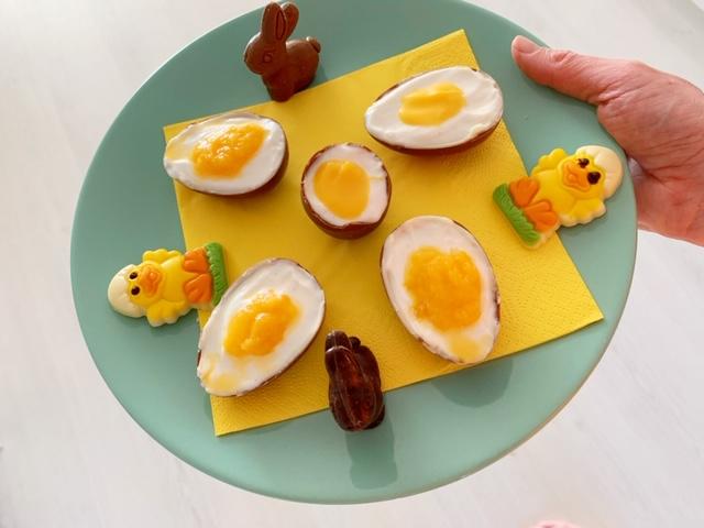 Gevulde chocolade eitjes