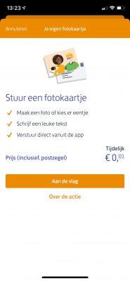 Stuur een gratis kaartje via de Postnl app